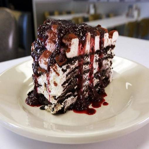 Traditional black forest torte