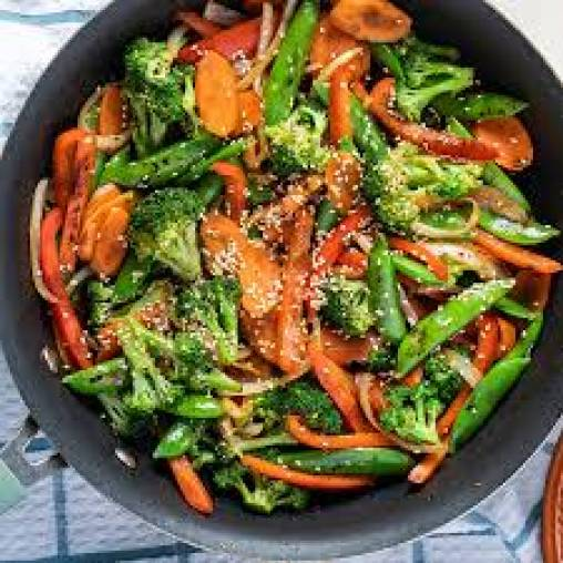 Stir Fry Vegetables with Honey and soy Sauce