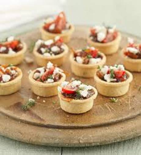 Caramelized onion tartlets with fetta & thyme