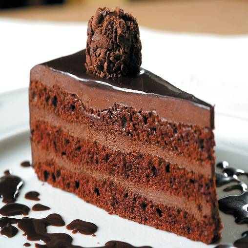 Chocolate truffle mousse cake