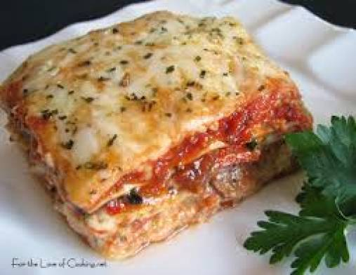 Grilled Vegetable Lasagna with Basil Tomato sauce & Parmesan